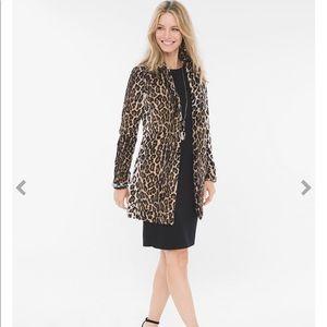 Chico's Faux Fur Leopard  Coat